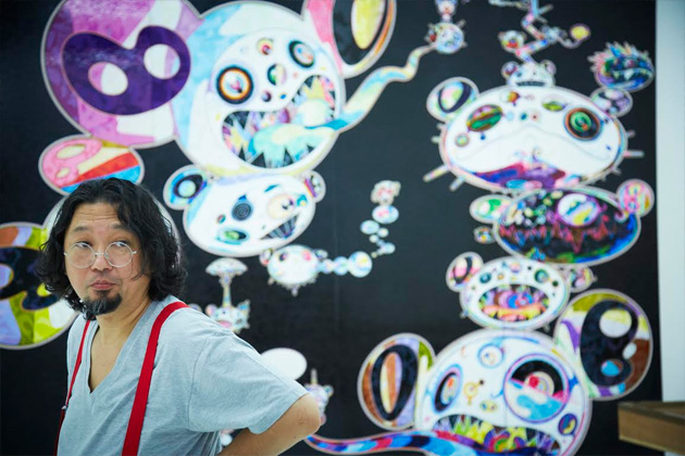 Takashi-Murakami-EXPO--In-the-Land-of-the-Dead,-Stepping-on-the-Tail-of-a-Rainbow